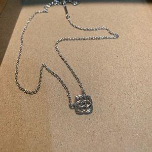 Kendra Scott logo necklace - Silver